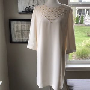 Ann Taylor Size 8 Cream Colored Embellished Dress!